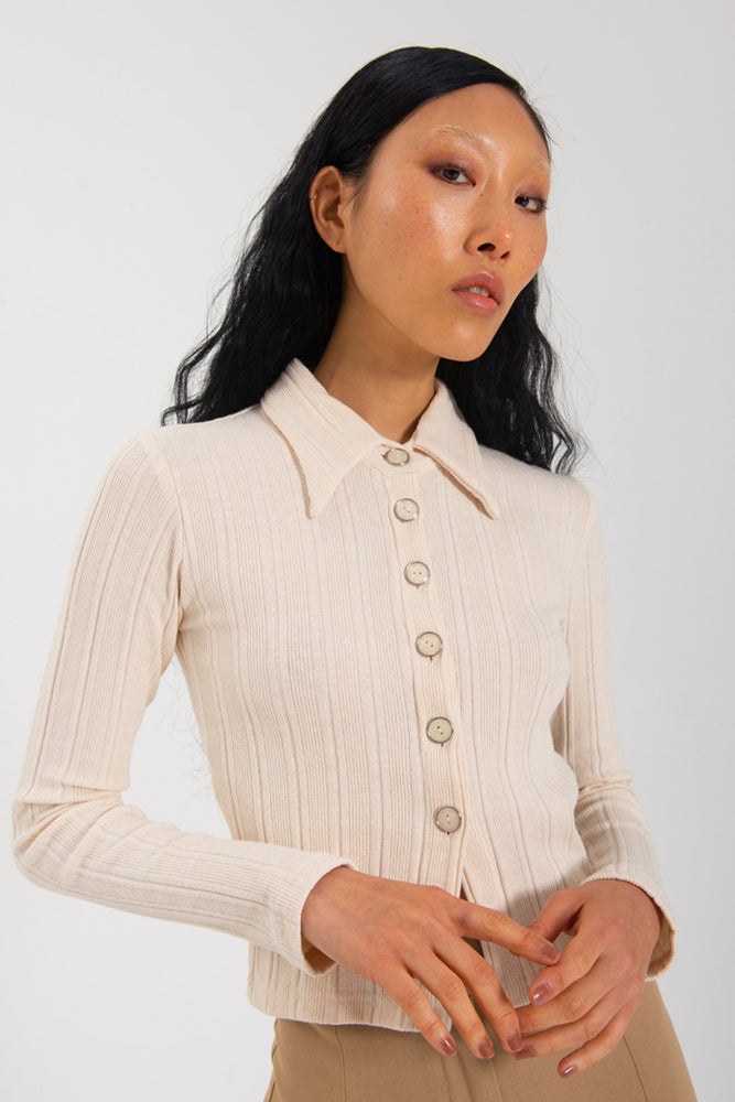 Load image into Gallery viewer, Sylvie Long Sleeve - Cream