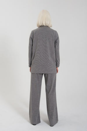 Relaxed Blazer - Grey Mini Houndstooth