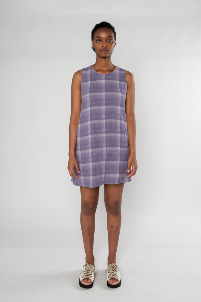 Audrey Dress - Mauve Check