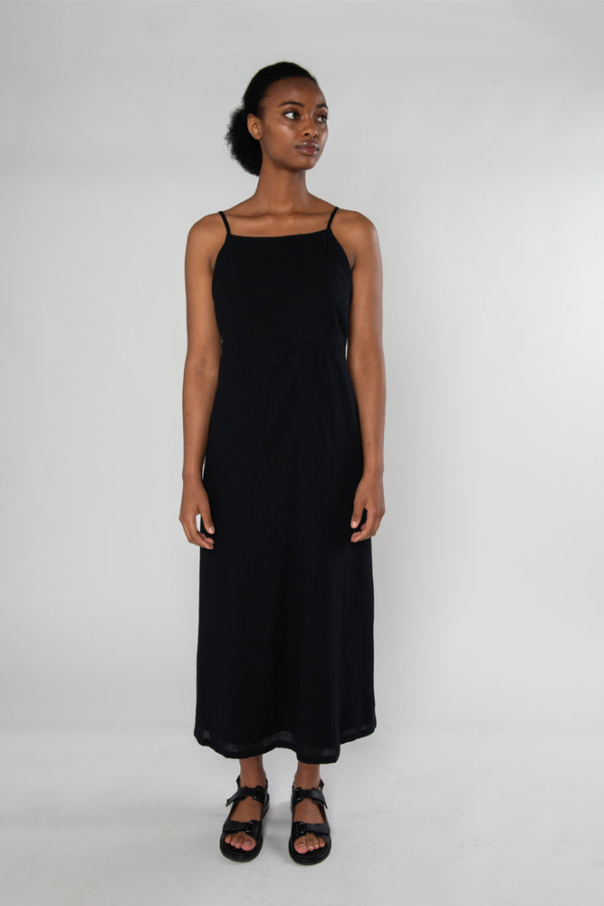 Shaye Dress - Black Crinkle