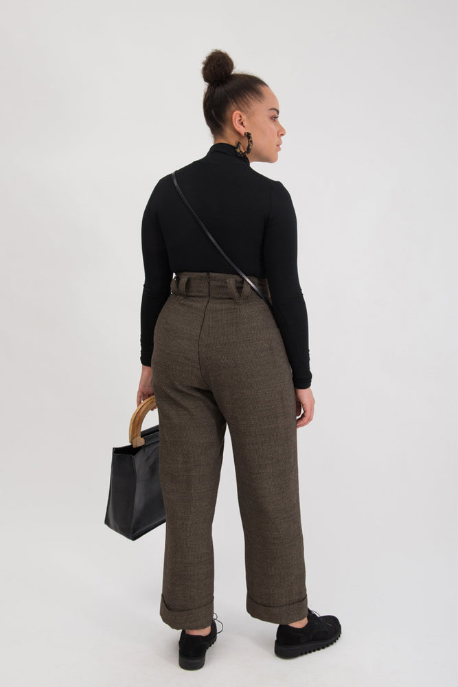 Nina Trouser - Caviar Suiting