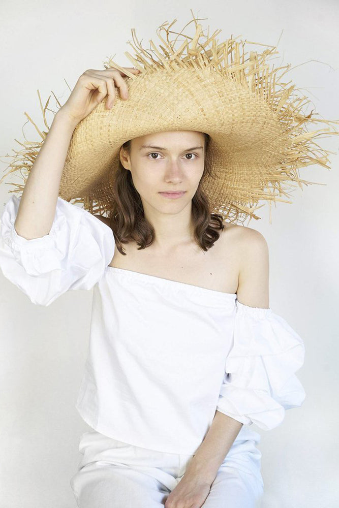 Clyde | Natural Fringed Hat