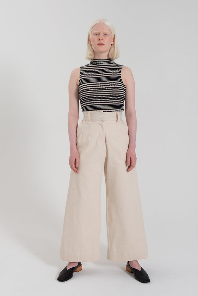 Load image into Gallery viewer, Classic Wide Leg Pant - Cream