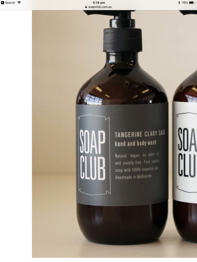 Soap club tangerine clary sage