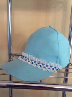 """Lace Anyone"" Blue Baseball Hat - FayZen's Kreations"