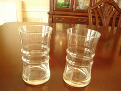 Ridged-Waist Water Glass 5 Pc Set - FayZen's Kreations