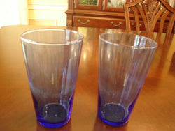 Libbey Dark Blue Colored Glass Set - FayZen's Kreations