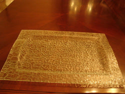 Pale Green Serving Platter With Embossed Curved Designs - FayZen's Kreations