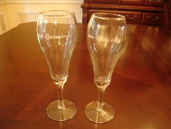 Bride & Groom Etched Toasting Flutes - FayZen's Kreations