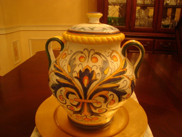 Urn-Shaped Colorfully Decorated Jar and Top - FayZen's Kreations