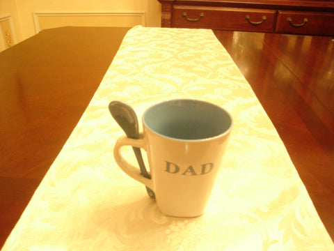 Dad White/Blue Coffee Mug and Spoon - FayZen's Kreations