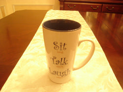 Latte Mug, Sit, Talk, Laugh - FayZen's Kreations