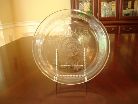 Vintage Fire-King Oven Glass Crown Embossed Design Pie Pan - FayZen's Kreations