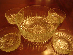 Arcoroc Cut Crystal Salad Bowl 5 Piece Set - FayZen's Kreations