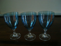 Blue Iridescent Crystal 3pc Red Wine Set - FayZen's Kreations