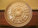 Vintage Federal Glass Windsor Raised Cake Plate Button and Cane Pattern - FayZen's Kreations