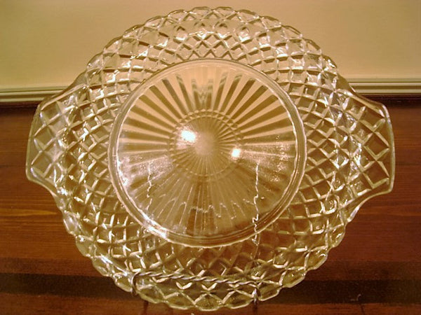 Windsor Diamond Serving Platter by Jeannette Glass Company - FayZen's Kreations