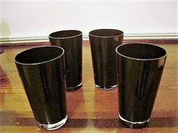 "Luminarc ""Shade"" Black Water Glass 4 pc Set - FayZen's Kreations"
