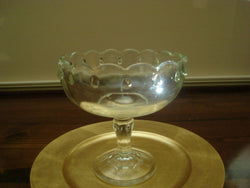 Indiana Glass Scalloped Edge Compote Bowl with Teardrop Design - FayZen's Kreations