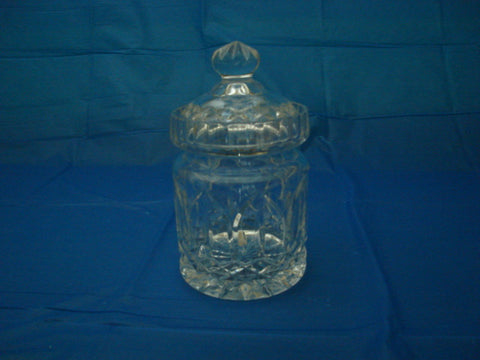 Cut Crystal Biscuit Barrel Jar and Lid - FayZen's Kreations