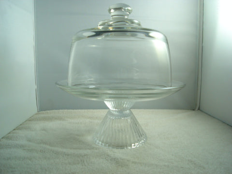 """Cutey""Footed Cheese Ball Tray with Dome - FayZen's Kreations"