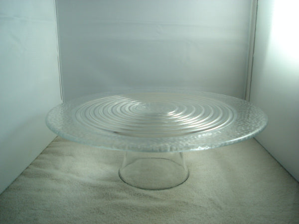 """Circles"" Raised Cake Stand with Circular Design - FayZen's Kreations"