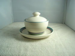 Pfaltzgraff Sugar Bowl with Top and Saucer - FayZen's Kreations