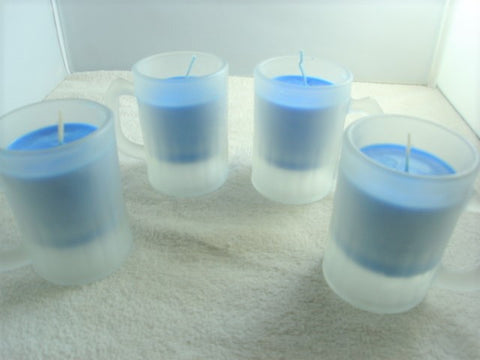 Frosted Espresso Cup Container Candle Set - FayZen's Kreations