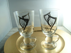 Irish Coffee Mugs With Etched Harp & Clover Design - FayZen's Kreations