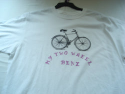 """My Two Wheel Benz"" Handcrafted Men's T-Shirt - FayZen's Kreations"