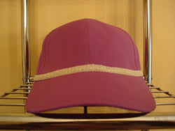 Ivory Woven Trim on Violet Baseball Hat - FayZen's Kreations
