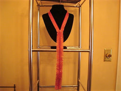 Red Diamond Mesh Ribbon Zipper Necklace - FayZen's Kreations