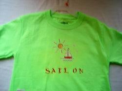 """Sail On"" Youth Hand Painted T-Shirt - FayZen's Kreations"