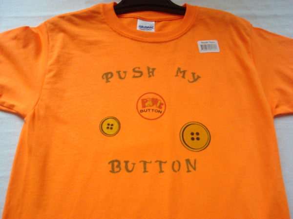 """Push My Button"" Hand Crafted Youth T-Shirt - FayZen's Kreations"