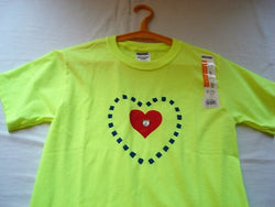 Tiered Checkered Heart Hand Crafted Youth T-Shirt