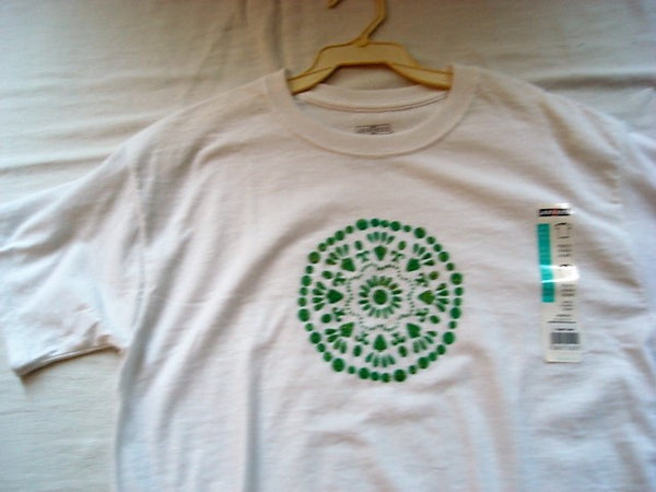 """Big Wheel"" Green Glitter Hand Crafted Youth T-Shirt"