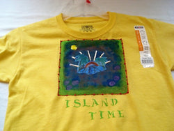 """Island Time"" Hand-Painted Youth T-Shirt - FayZen's Kreations"