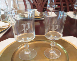 Decorative Stem 4pc Wine Glass Set - FayZen's Kreations