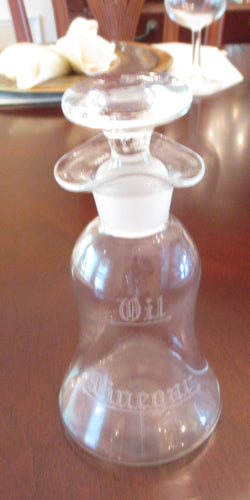Hawkes Vintage Cruet Oil/Vinegar Bottle With Stopper - FayZen's Kreations