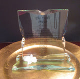 Lord's Prayer Glass Standing Plaque With Base - FayZen's Kreations
