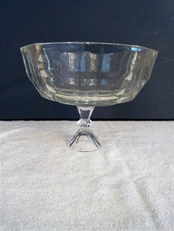Raised Lead Crystal Faceted Fruit Bowl with Decorative Stem & Foot - FayZen's Kreations