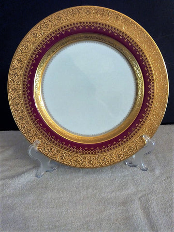 Faberge' Imperial Heritage Burgundy Fine China Dinner Plate - FayZen's Kreations