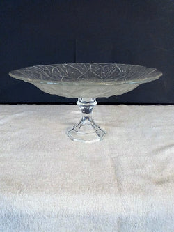 """Bubbles & Leaves"" Raised Fruit Bowl with Center Handle - FayZen's Kreations"