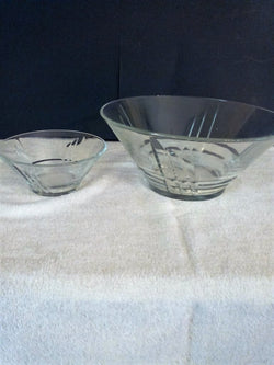 Luminarc Cut Crystal Salad and Dip Bowl Set - FayZen's Kreations