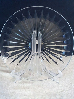 Vaugh Lambert Cut Crystal Sunburst Platter - FayZen's Kreations