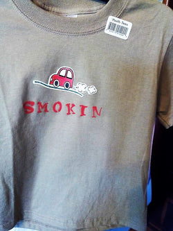 """Smokin"" Red Car Applique Toddler T-Shirt - FayZen's Kreations"