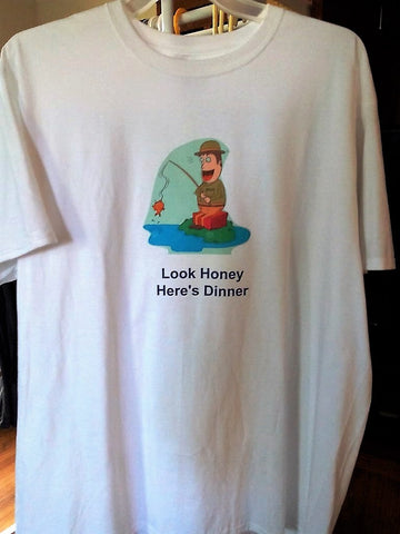 """Look Honey Here's Dinner"" Men's Hand Crafted T-Shirt - FayZen's Kreations"