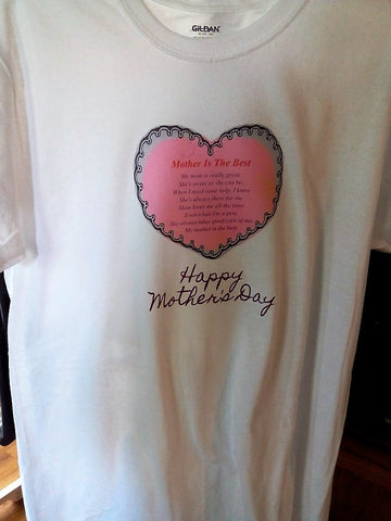Mother's Day Heart T-shirt - FayZen's Kreations