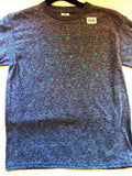 Turquoise Glitter Symbols Hand Crafted Youth T-Shirt