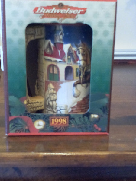 1998 Budweiser Grant's Farm Holiday Handcrafted Collectible Stein - FayZen's Kreations
